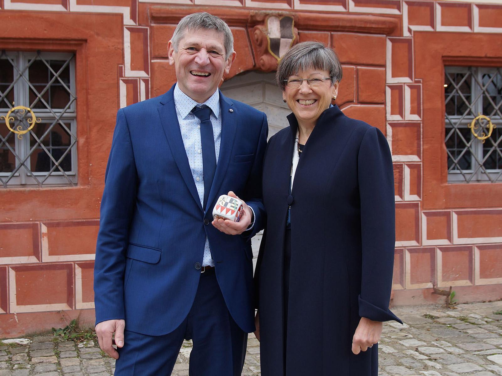 Franz Besold, Weismain und Heidrun Piwernetz, Regierungspräsidentin von Oberfranken