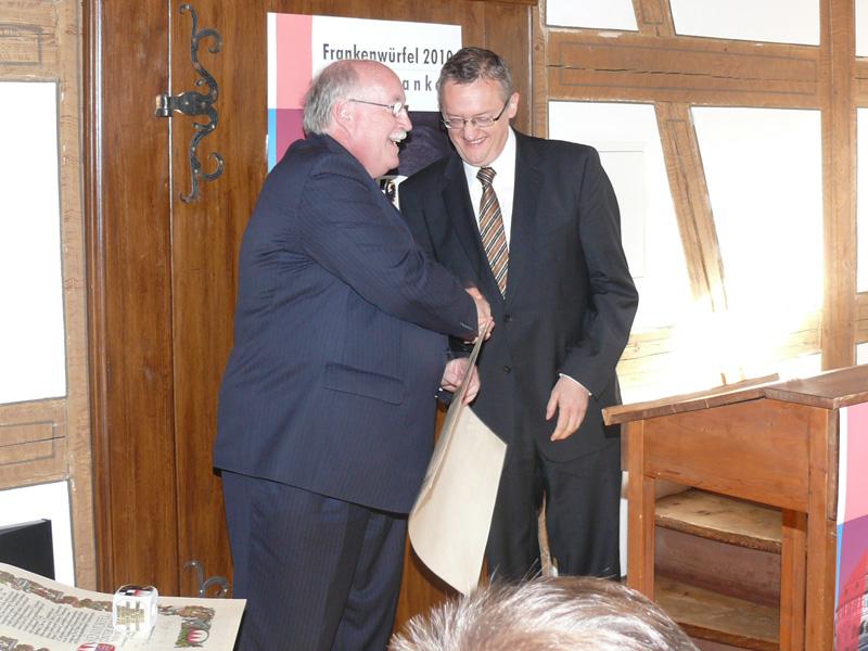 Verleihung des Frankenwürfels 2010 in Bad Windsheim