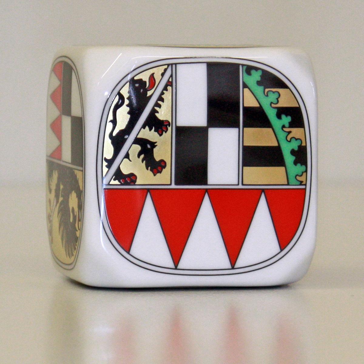 Frankenwürfel mit dem Wappen von Oberfranken